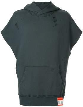 Miharayasuhiro short-sleeved hooded vest