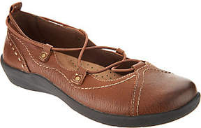 Earth Origins Leather Bungee Lace Slip-ons -London