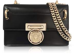 Balmain Glossy Black Leather BBox 20 Flap Bag