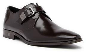 Versace Collection Buckle Leather Loafer