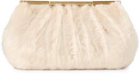 La Regale Champagne Faux Fur Haven Pouch Clutch