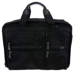 Tumi Leather-Trimmed Laptop Briefcase