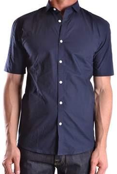 Selected Men's Blue Cotton Shirt.