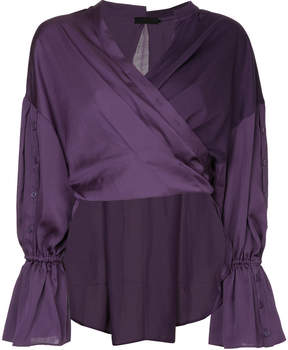 Aula panelled wrap around blouse