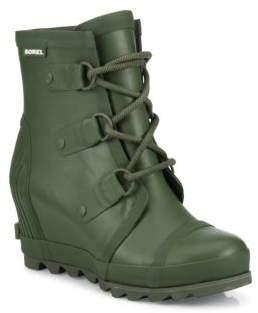 Sorel Joan Short Wedge Rain Boots