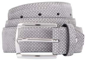 Bugatchi Men's Dot Print Leather Belt