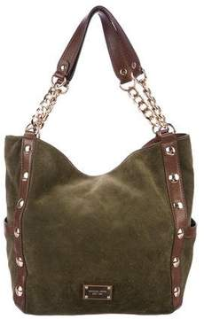 MICHAEL Michael Kors Suede Leather Trim Hobo Bag