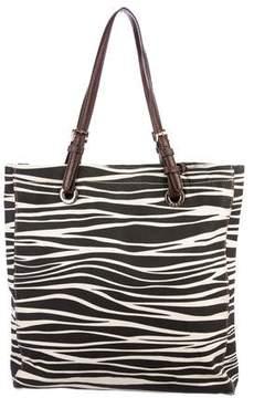 MICHAEL Michael Kors Leather-Trimmed Zebra Tote