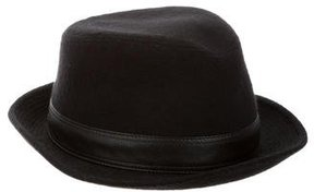 Hermes Cashmere Leather-Trimmed Fedora