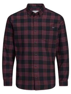 Jack and Jones Plaid Cotton Button-Down Shirt