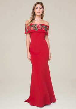 Bebe Rose Applique Mermaid Gown