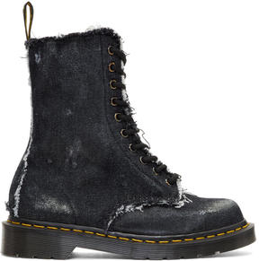 Off-White Black Dr. Martens Edition Denim 1490 Boots