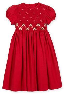 Luli & Me Smock Embroidered Dress, Size 7-10