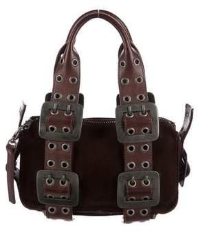 DSQUARED2 Grommet-Embellished Suede Bag