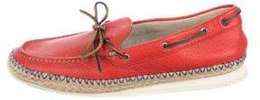 Paul Smith Leather Jute-Trimmed Moccasins w/ Tags