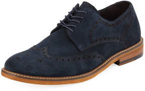 Kenneth Cole Men's Suede Wing-Tip Oxford