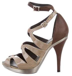 Barbara Bui Patent Leather Cage Sandals