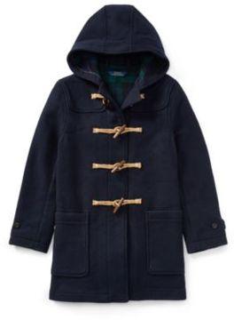 Ralph Lauren Wool-Blend Toggle Coat Piper Navy M