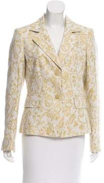 Ellen Tracy Structured Patterned Blazer
