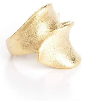 Rivka Friedman 18K Gold Clad Brushed Bypass Ribbon Ring