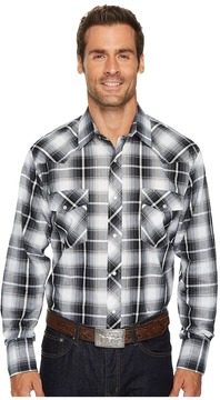 Roper 1209 Black, Grey and White Plaid Men's Clothing