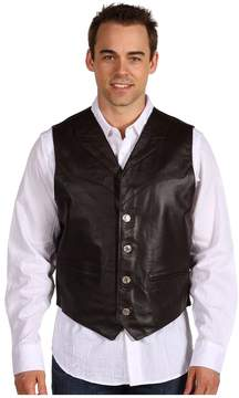 Roper Leather Notch Collar Vest Men's Vest