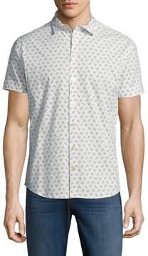 Parke & Ronen Men's Stretch Slim Fit Cotton Sportshirt