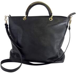 Max Mara Black Leather Convertible Tote