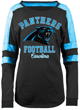 5th & Ocean Women's Carolina Panthers Space Dye Long Sleeve T-Shirt