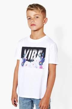 boohoo Boys Floral Print Vibe T-Shirt