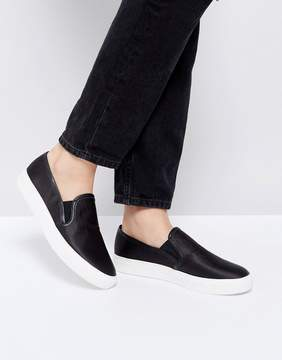 Faith Karlie Black Slip On Sneakers