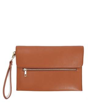Forever 21 Faux Leather Pouch Clutch