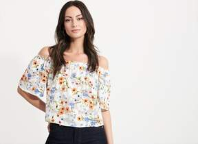 Dynamite Flowy Off-The-Shoulder Top