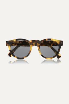 Illesteva Leonard Round-frame Acetate Sunglasses - Tortoiseshell
