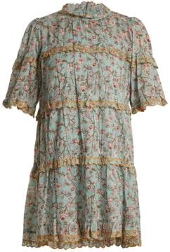 Etoile Isabel Marant Maiwenn floral-print ruffle-trimmed cotton dress
