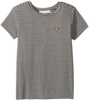 Spiritual Gangster Kids Happy and Free Short Sleeve Tee Girl's T Shirt
