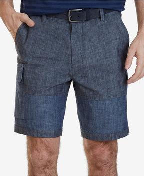 Nautica Men's 9 Chambray Cargo Shorts