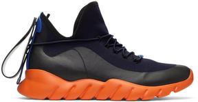 Fendi Navy and Orange Runner Sneakers