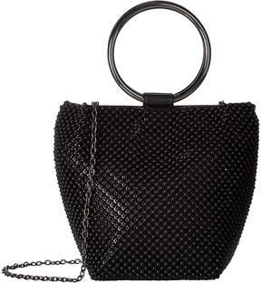 Jessica McClintock Gwen Ball Mesh Ring Wristlet Pouch Clutch Clutch Handbags