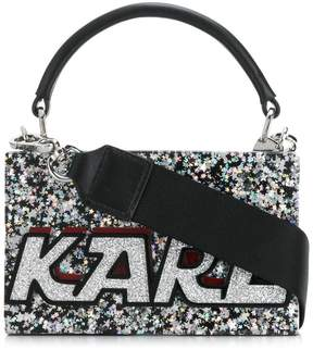Karl Lagerfeld star metallic tote bag