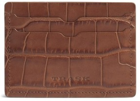 Trask Men's 'Jackson' Leather Card Case - Brown