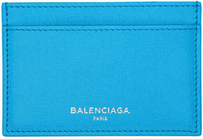 Balenciaga Blue Essential Single Card Holder