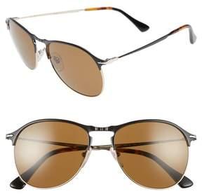 Persol Men's Sartoria 56Mm Polarized Aviator Sunglasses - Matte Black