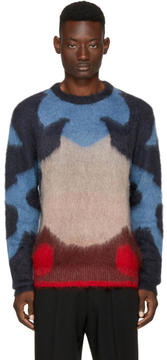 Oamc Multicolor Mohair Moth Sweater