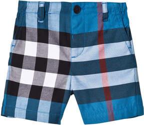 Burberry Blue Check Sean Shorts