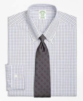 Brooks Brothers Non-Iron Milano Fit Triple Tattersall Dress Shirt