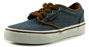 Vans Atwood Youth Round Toe Canvas Blue Sneakers.