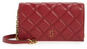 Marc Jacobs Quilted Leather Wallet On A Chain - Burgundy