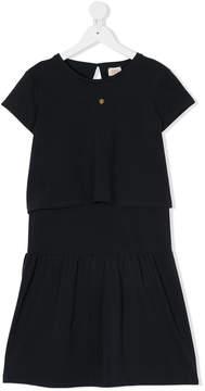 Emporio Armani Kids TEEN layered T-shirt dress