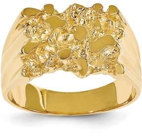 Ice 14k Men's Nugget Ring